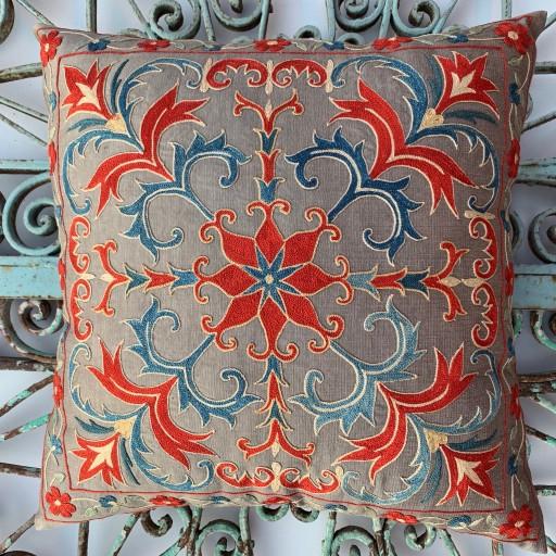Suzani Silk Cushion-Szn001