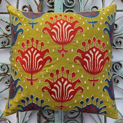 Suzani Silk Cushion-Szn004