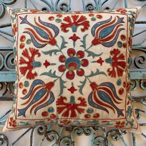 Suzani Silk Cushion-Szn010