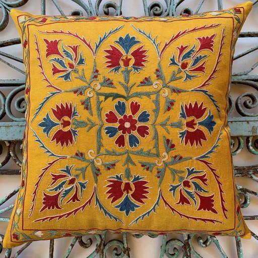 Suzani Silk Cushion-Szn013