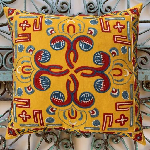 Suzani Silk Cushion-Szn015
