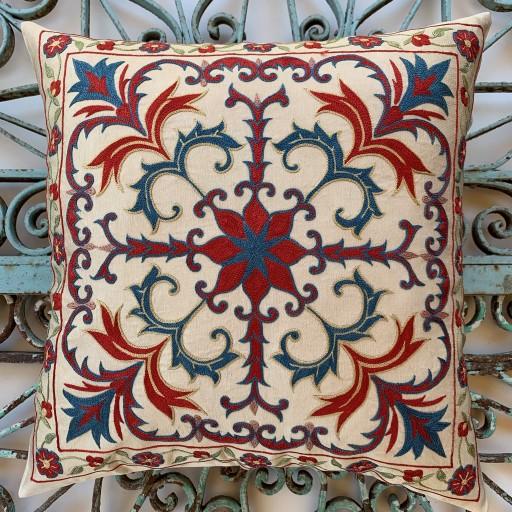 Suzani Silk Cushion-Szn016