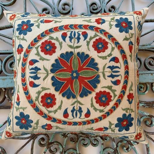 Suzani Silk Cushion-Szn017
