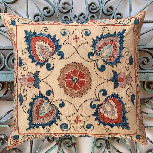 Ottoman Silk Suzani Cushion-Otm017