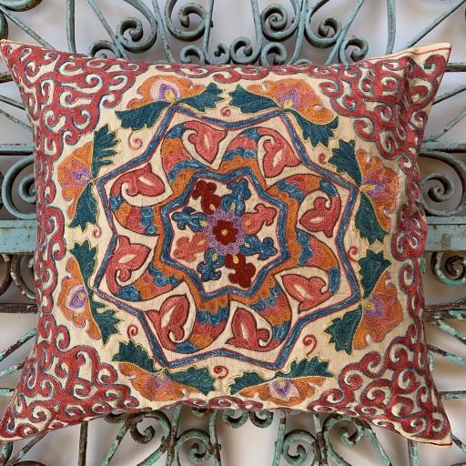 Ottoman Silk Suzani Cushion-Otm018