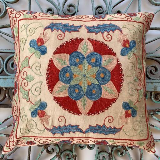 Ottoman Silk Suzani Cushion-Otm019