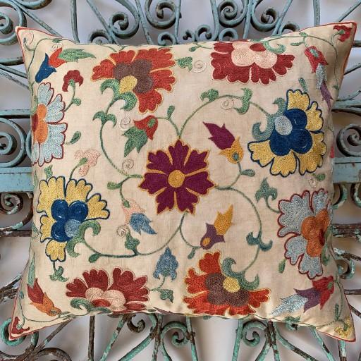 Ottoman Silk Suzani Cushion-Otm020
