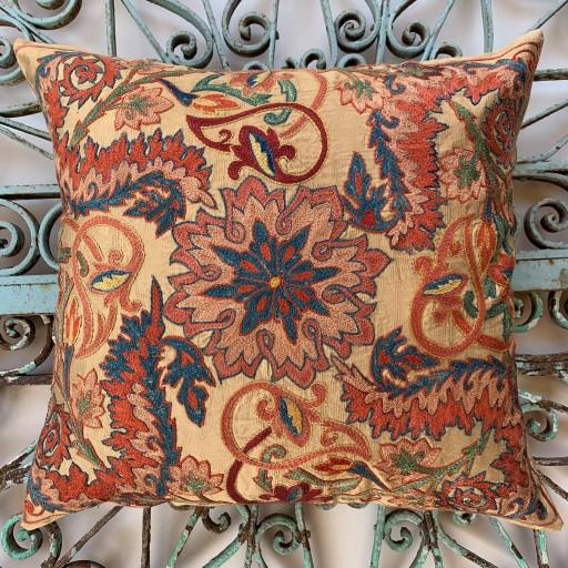 Ottoman Silk Suzani Cushion-Otm021