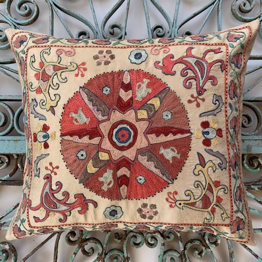 Ottoman Silk Suzani Cushion-Otm022