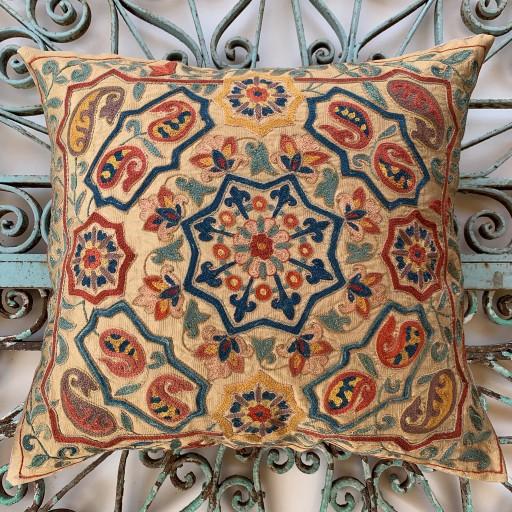 Ottoman Silk Suzani Cushion-Otm023