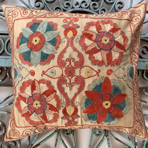 Ottoman Silk Suzani Cushion-Otm024