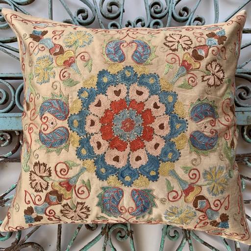 Ottoman Silk Suzani Cushion-Otm025