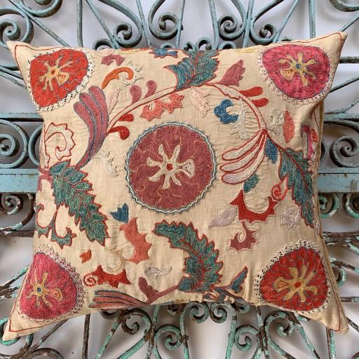 Ottoman Silk Suzani Cushion-Otm026