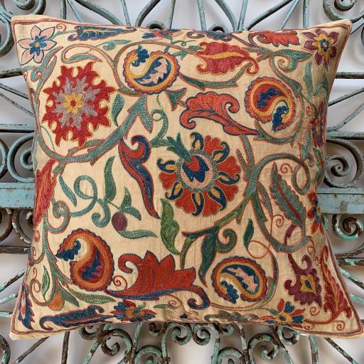 Ottoman Silk Suzani Cushion-Otm027
