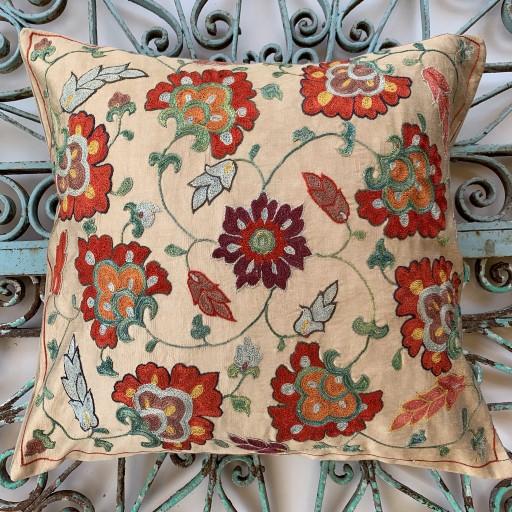 Ottoman Silk Suzani Cushion-Otm028