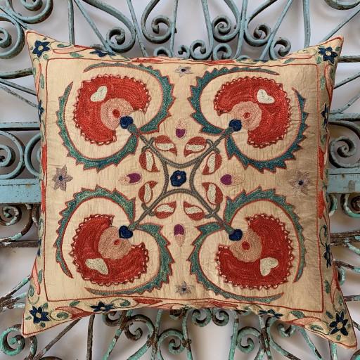 Ottoman Silk Suzani Cushion-Otm029