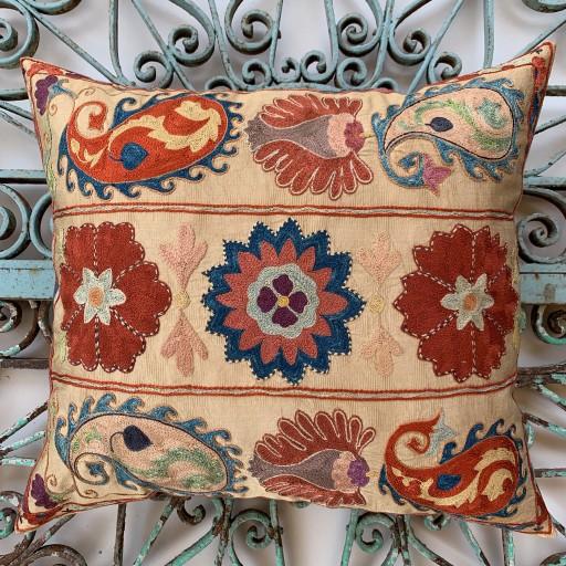 Ottoman Silk Suzani Cushion-Otm030