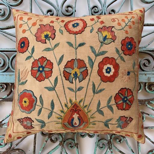 Ottoman Silk Suzani Cushion-Otm031