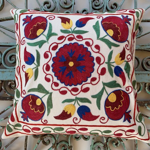 Suzani Silk / Cotton Cushion-Slc008