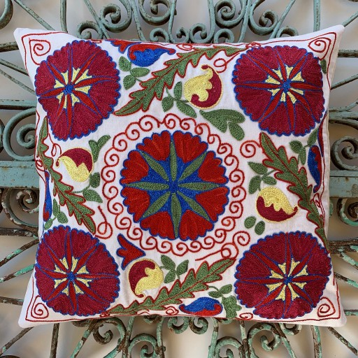 Suzani Silk / Cotton Cushion-Slc011