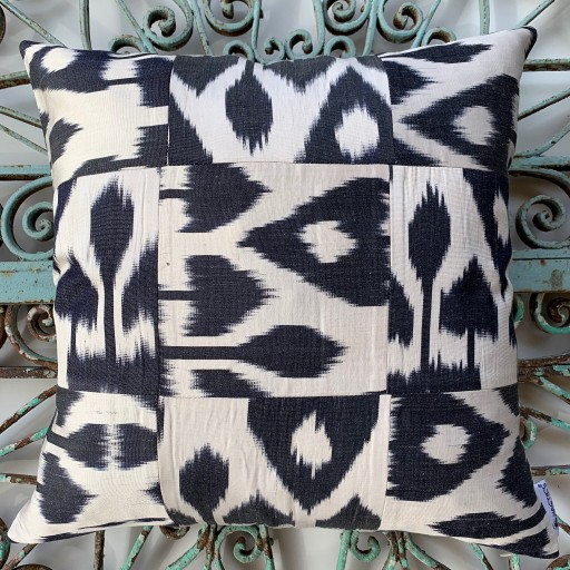 Ikat Silk Cushion-Ikt009