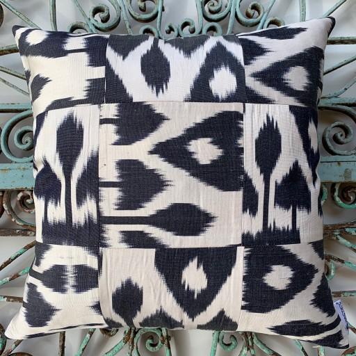Ikat Silk Cushion-Ikt009