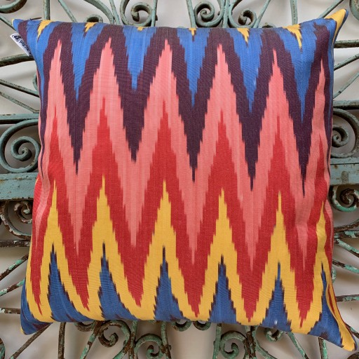 Ikat Silk Cushion-Ikt011