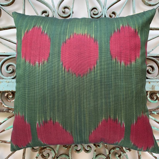 Ikat Silk Cushion-Ikt013