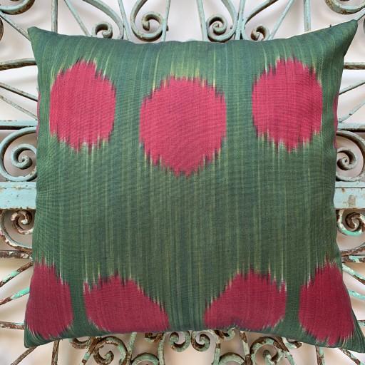 Ikat Silk Cushion-Ikt013