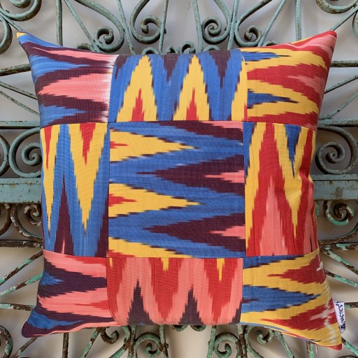 Ikat Silk Cushion-Ikt015