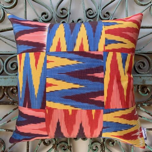 Ikat Silk Cushion-Ikt015