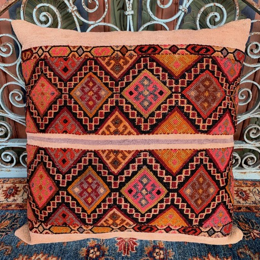Vintage Kilim Floor Cushion-Flr001