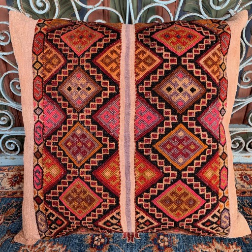 Vintage Kilim Floor Cushion-Flr002