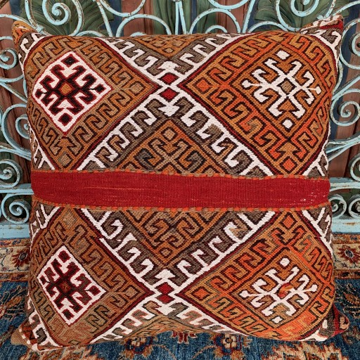 Vintage Kilim Floor Cushion-Flr003