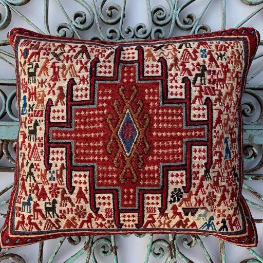 Sumak Wool/Silk Cushion-Smk001