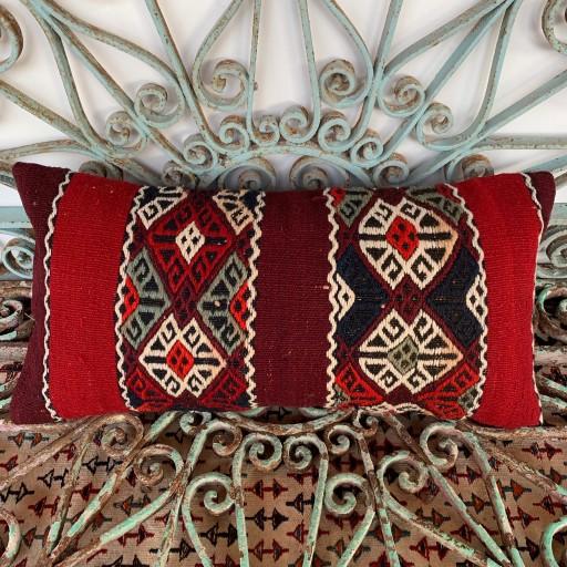 Vintage Bolster Kilim Cushion-Bls046