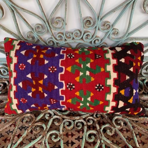 Vintage Bolster Kilim Cushion-Bls047