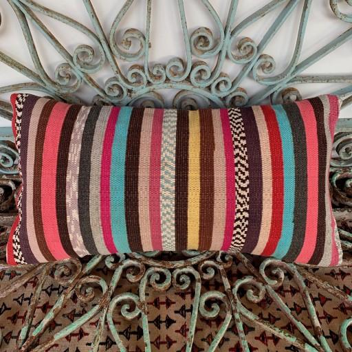 Vintage Bolster Kilim Cushion-Bls048