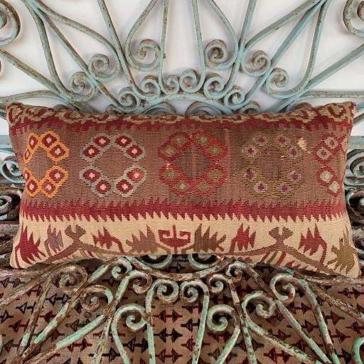 Vintage Bolster Kilim Cushion-Bls049