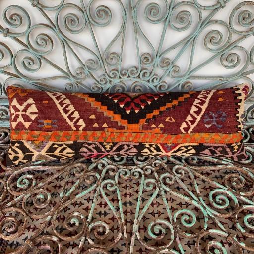 Vintage Bolster Kilim Cushion-Bls058