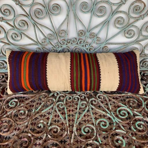 Vintage Bolster Kilim Cushion-Bls059