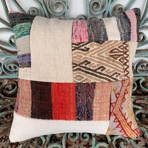 Vintage Patchwork Kilim Cushion-Pch033