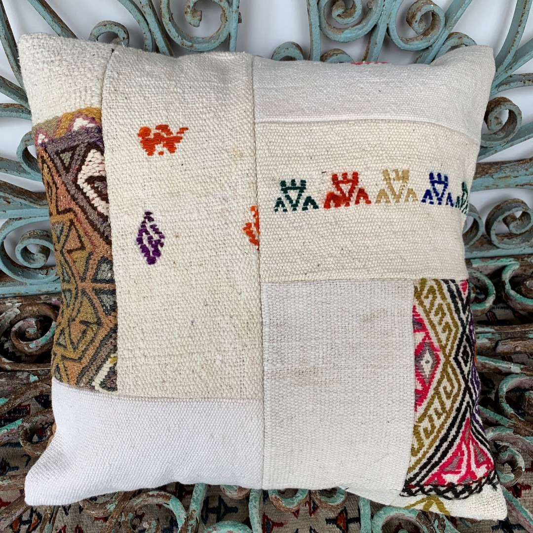 Vintage Patchwork Kilim Cushion-Pch036