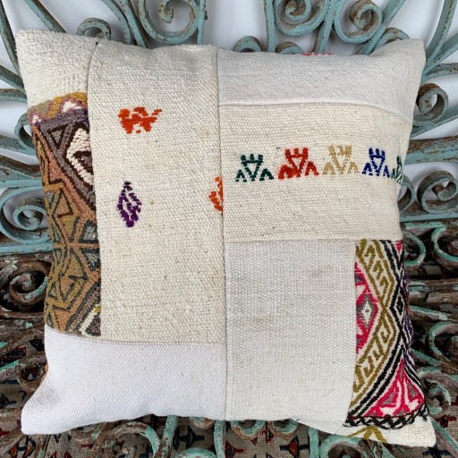 Vintage Patchwork Kilim Cushion-Pch036