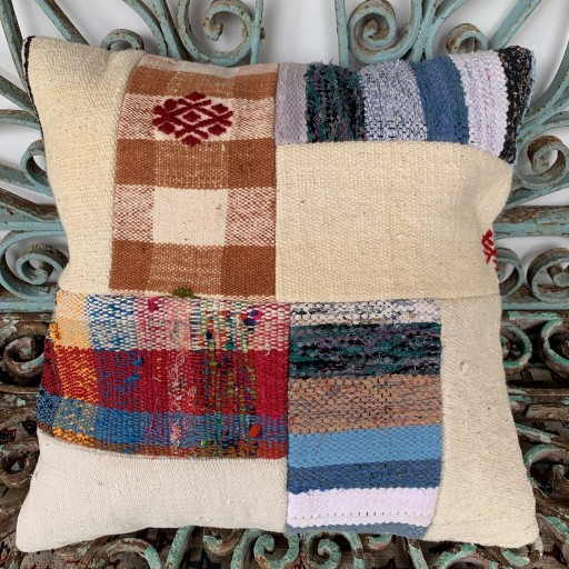 Vintage Patchwork Kilim Cushion-Pch037