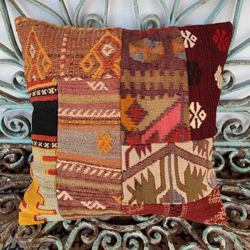Vintage Patchwork Kilim Cushion-Pch038