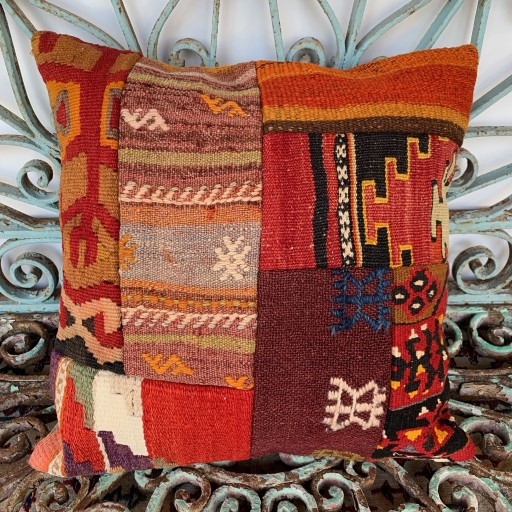 Vintage Patchwork Kilim Cushion-Pch039