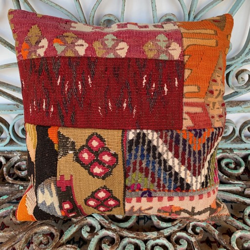 Vintage Patchwork Kilim Cushion-Pch040