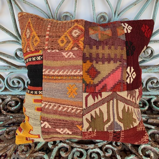 Vintage Patchwork Kilim Cushion-Pch041