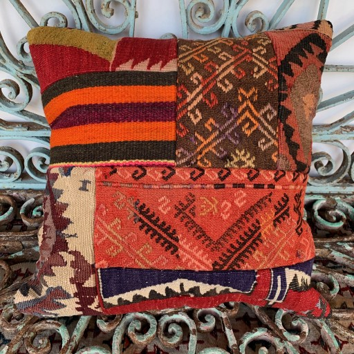 Vintage Patchwork Kilim Cushion-Pch042